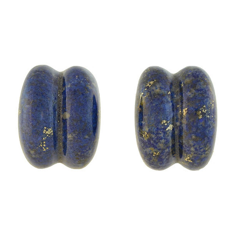 PATRICIA VON MUSULIN Estate Sterling Lapis Lazuli Clip-On Earrings