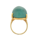 Estate 14kt Large Tourmaline Cabochon Ring