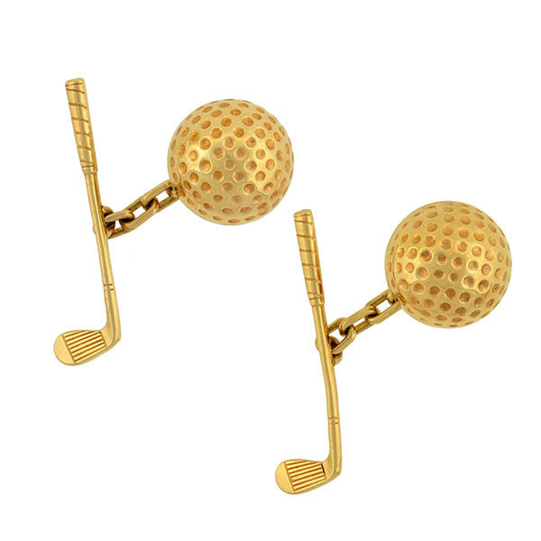 LARTER & SONS Vintage 14kt Golf Motif Cufflinks