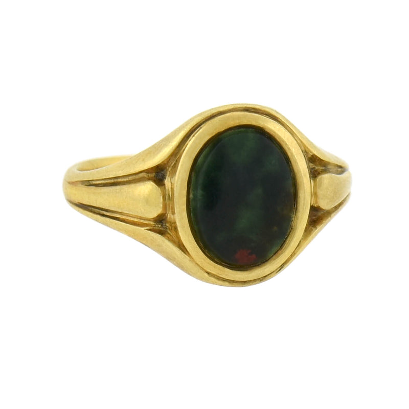 LARTER & SONS Late Victorian 14kt Gemstone Double Snake Ring