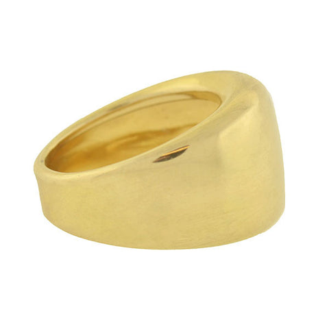 Vintage 14kt Gold Wide Cigar Band Ring