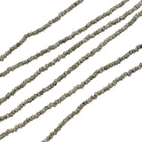 Early Victorian Long Cut Steel Bead Necklace 53