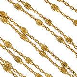 Victorian Gold-Filled Filigree Link Chain 60