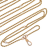 Victorian 18kt Yellow Gold & Pearl Muff Chain 57