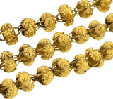 Georgian 15kt Gold Handmade Open Bead Necklace 50