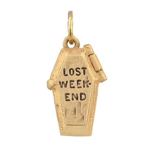 "Retro 14kt ""Lost Weekend"" Moveable Charm"