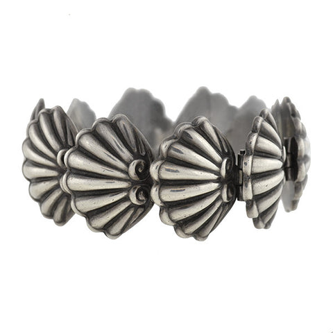 MARGOT DE TAXCO Vintage Mexican Sterling Seashell Bracelet