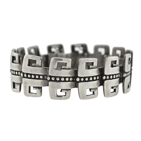 MARGOT DE TAXCO Mexican Sterling Silver Link Bracelet   ON HOLD