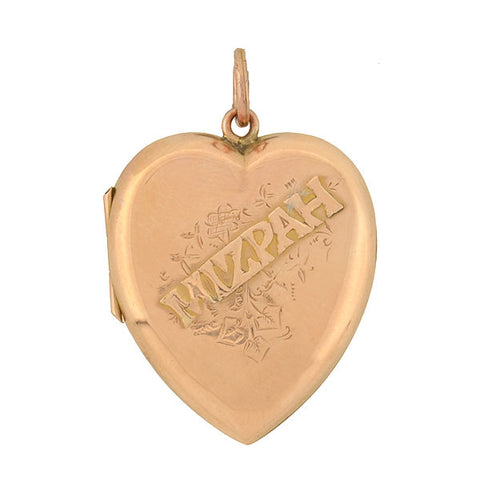 "Edwardian 9kt ""MIZPAH"" Heart Locket"