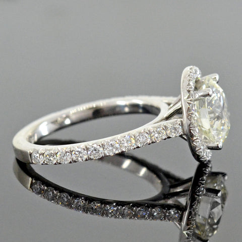 Estate 18kt Diamond Halo Engagement Ring 2.00ct