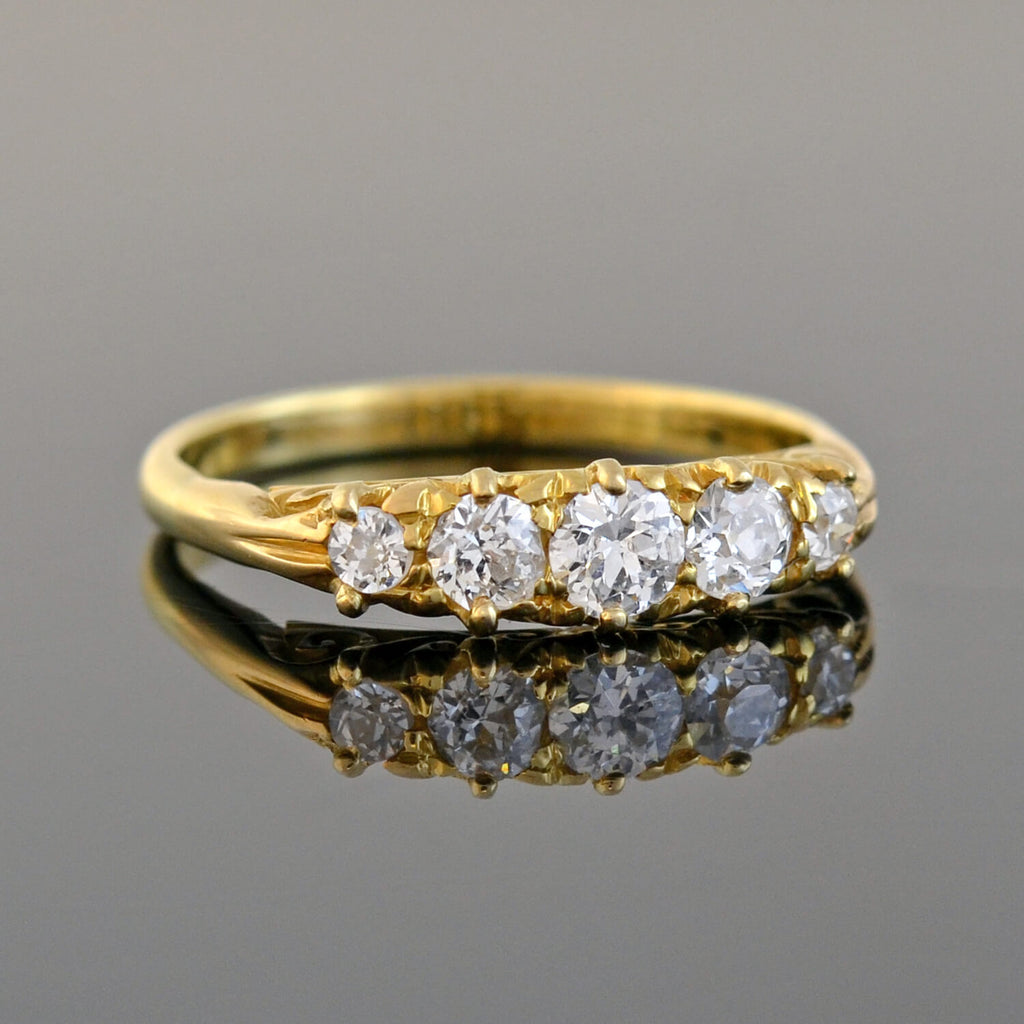 Victorian 18kt Diamond 5-Stone Ring