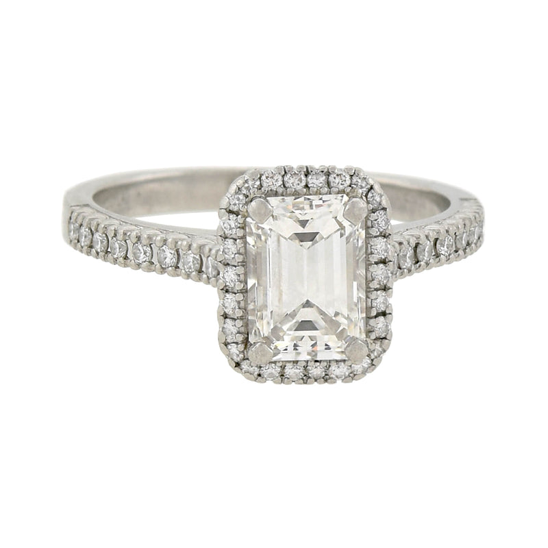 Art Deco 19kt Cushion Cut Diamond Engagement Ring 3.14ctw