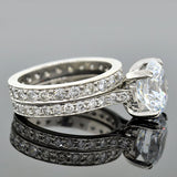 Estate Platinum Engagement Ring Mounting & Band Set