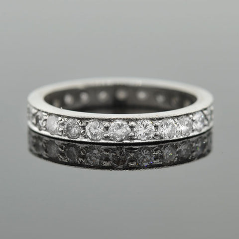 Estate Platinum & Diamond Eternity Band 1.00ctw