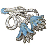 MARGOT DE TAXCO Vintage Sterling + Enameled Floral Bracelet, Earrings and Pin Set