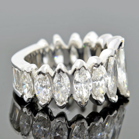 Vintage Platinum Marquise Diamond Ring 6.44ctw