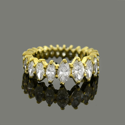 Estate 18kt Marquise Diamond Band 4.00ctw