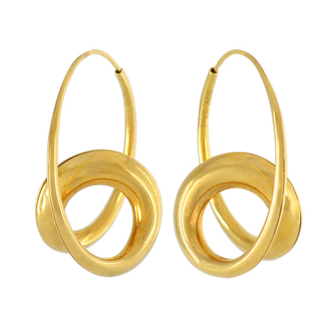 MICHAEL GOOD Estate 18kt Double Loop Sculptural Earrings