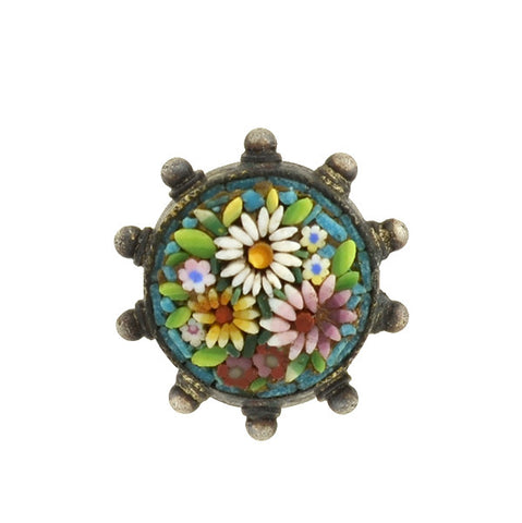 Victorian Large 18kt Micro Mosaic Urn Locket/Pin