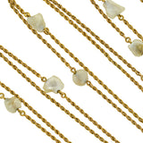 Victorian 14kt Mississippi River Pearl Chain Necklace 56