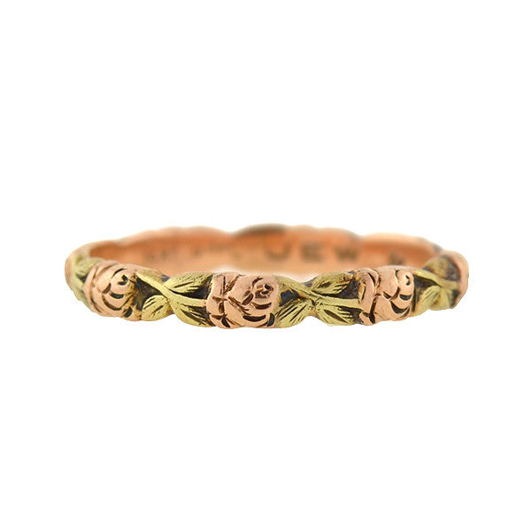 JABEL Estate 14kt Mixed Metals Floral Band