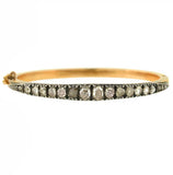 Victorian 14kt/Sterling Rose Cut Diamond Bracelet 3.00ctw