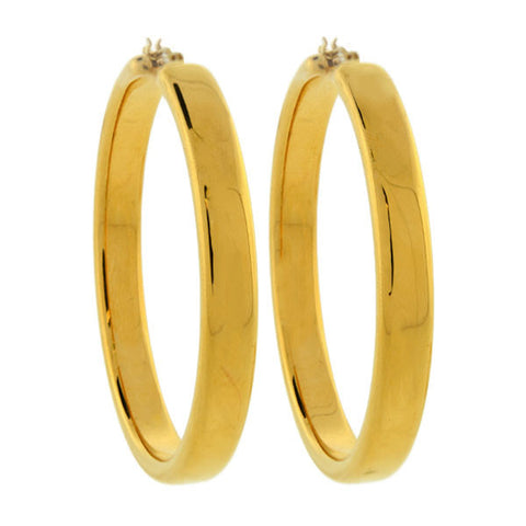 Estate 14kt Yellow Gold Hollow Hoop Earrings 5.7 dwt