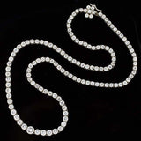 Estate Platinum Diamond Riviera Necklace 13.75ctw
