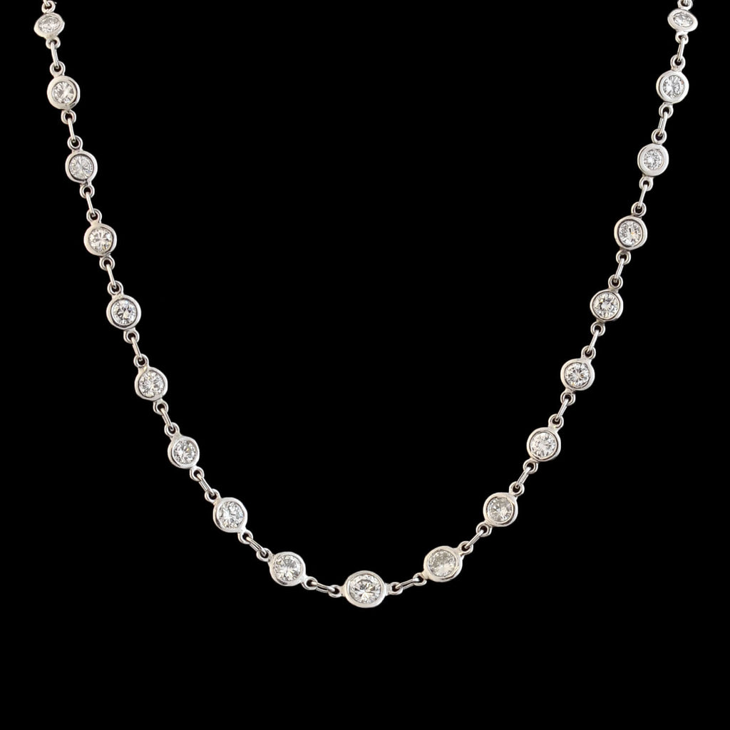 "Estate 14kt ""Diamonds By the Yard"" Necklace 4.00ctw"