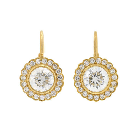 Estate 18kt Yellow Gold Clip Earrings
