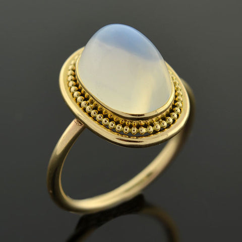 Late Victorian 14kt Moonstone Ring