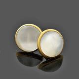 Late Victorian 14kt Moonstone Cufflinks