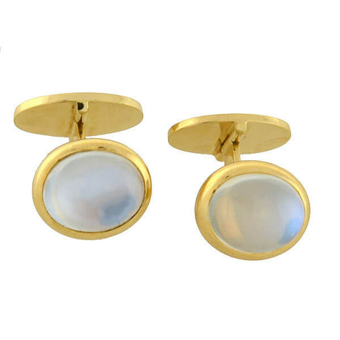 Vintage 18kt Gold & Moonstone Cufflinks