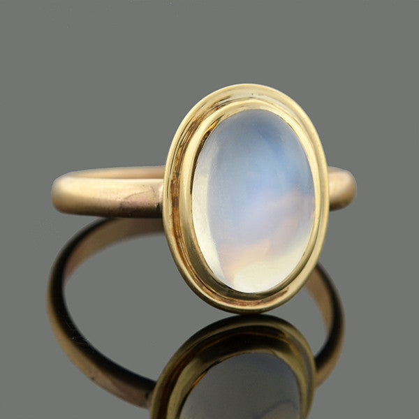 Late Victorian 14kt Moonstone Cabochon Ring
