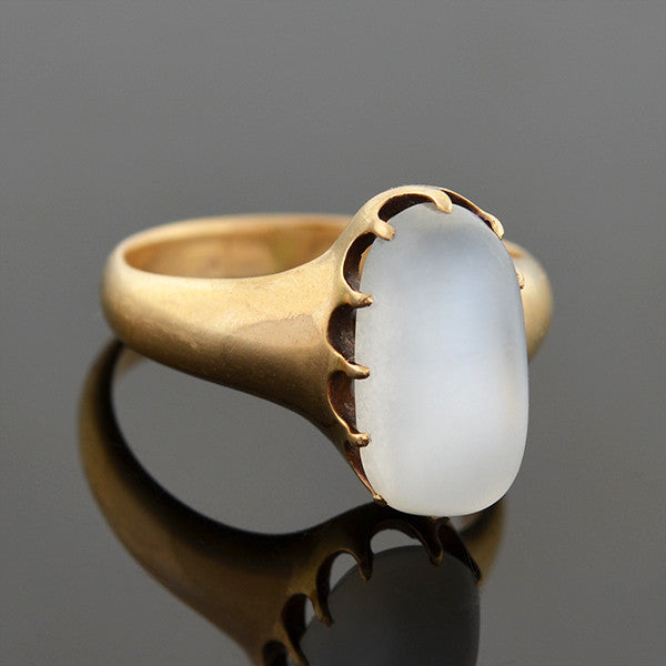 Victorian 14kt Oval Moonstone Ring