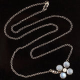 Victorian Sterling Moonstone + Pearl