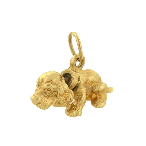 Vintage 14kt Moveable Dog Charm