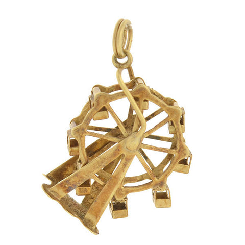 Vintage 14kt Gold Moveable Ferris Wheel Charm