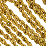 Victorian Gold-Filled Twisted Rope Chain Necklace 60