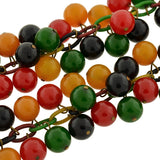 Retro Multi-Colored Bakelite & Celluloid Necklace