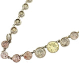 Edwardian Natural Multi-Color Diamond Necklace 23.0ctw