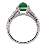 Estate Platinum Muzo Emerald & Diamond Ring 1.60ct