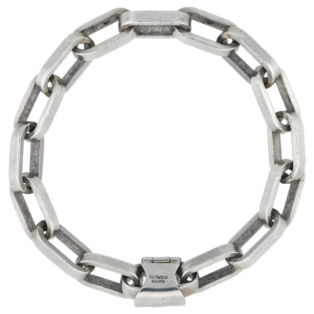NAPIER Vintage Sterling Silver Interlocking Link Bracelet