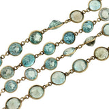 Art Deco 14kt Faceted Natural Zircon Necklace 29