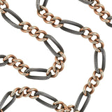 Victorian Mixed Metals Niello Watch Chain