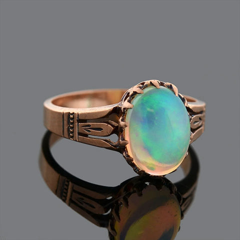 Victorian 14kt Rose Gold Opal Ring