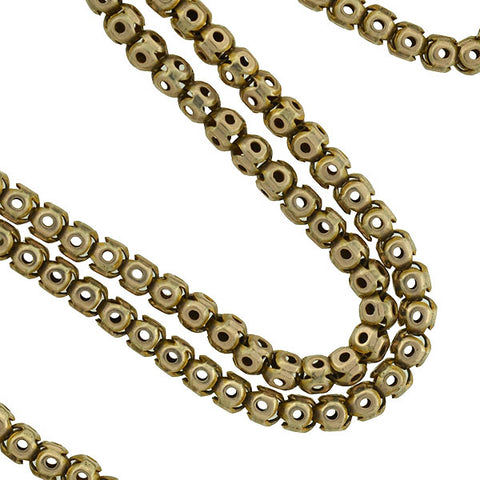 Victorian 9kt Hollow Bead Link Chain 16.5""