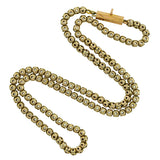 Victorian 9kt Hollow Bead Link Chain 16.5