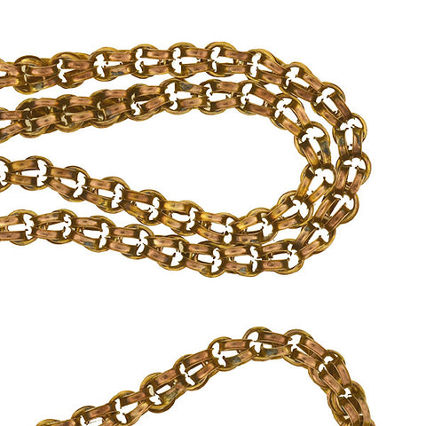 Victorian Gold-Filled Double Split Ring Chain 23""
