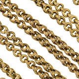 Victorian 14kt Textured Link Chain with Watch Clasp 33